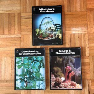 Set of 3 Vintage 1976 Houseplants Books